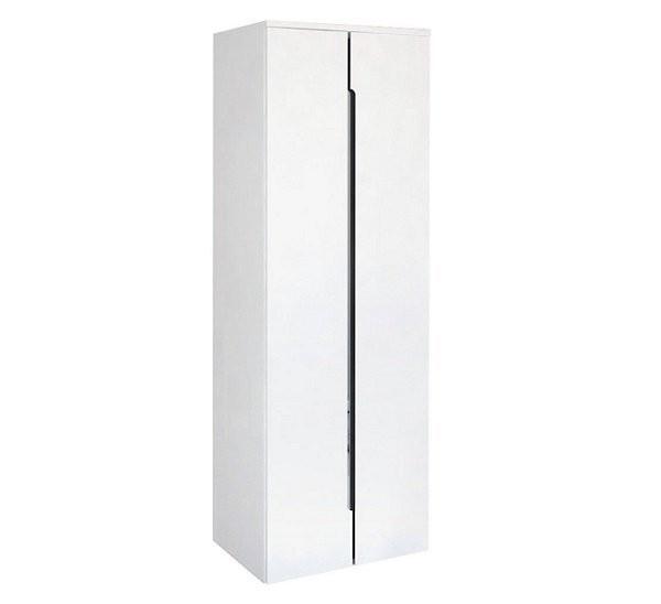 Dulap suspendat dublu Oristo Silver 50 x 35 x 144 cm, alb lucios