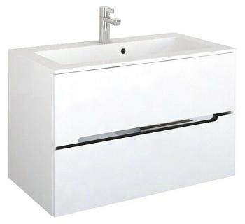 Set PROMO mobilier cu lavoar Oristo Silver 90 x 45 x 55 cm alb lucios imagine