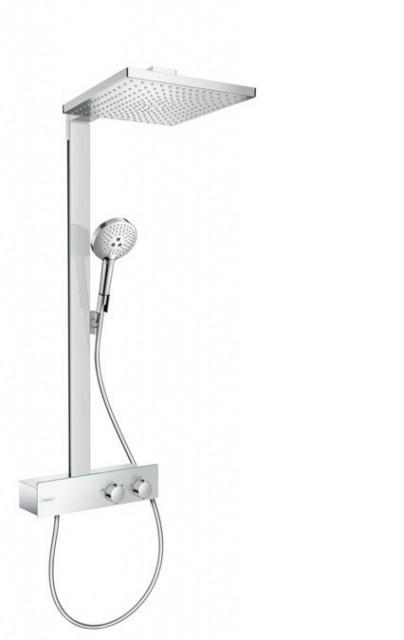 Sistem dus cu baterie termostata Hansgrohe Raindance Select E 300