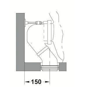 Conector evacuare vas wc Gala 90 grade
