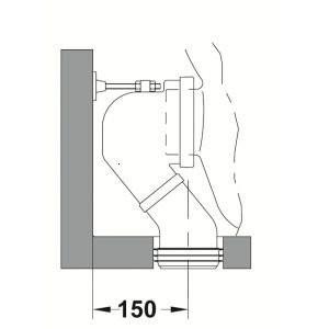 Cot de scurgere vas wc Gala 90 grade