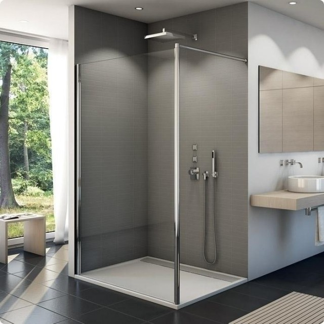 Cabina dus Walk-in SanSwiss Fun 700 x H2000 mm sticla Durlux