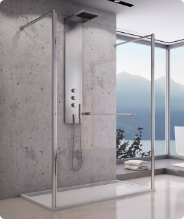 Imagine Cabina Dus Walk-in Sanswiss Fus2 140 X H200 Cm Sticla Durlux