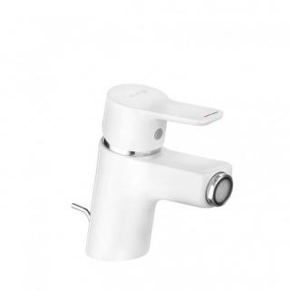 Baterie bideu Kludi Pure&Easy alb cu ventil metalic pop-up