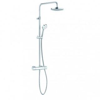 Sistem de dus Kludi Logo THM Dual Shower System cu baterie de dus termostatata