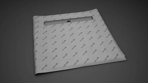 Sistem de dus fara cadita, cu rigola Radaway RadaDrain 110 x 110 cm imagine