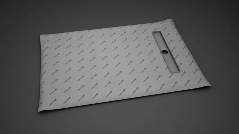Sistem de dus fara cadita, cu rigola Radaway RadaDrain pe marginea scurta 90 x 80 cm