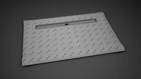 Sistem de dus fara cadita, cu rigola Radaway RadaDrain pe marginea lunga 110 x 90 cm