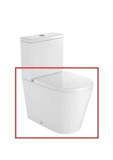 Vas WC Roca Inspira monobloc cu dubla evacuare 60x37xH40 cm