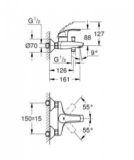 Set promo baterii Grohe Eurosmart (33265002-33300002)