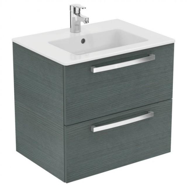 Set PROMO mobilier suspendat Ideal Standard Tempo 60 cm cu lavoar, stejar gri