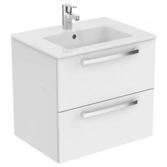 Set PROMO mobilier suspendat Ideal Standard Tempo 60 cm cu lavoar, alb lucios