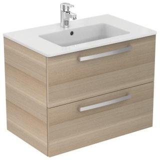 Set PROMO mobilier suspendat Ideal Standard Tempo 80 cm cu lavoar, stejar nisip