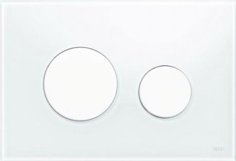 Clapeta dubla actionare Tece Loop sticla alba - alb