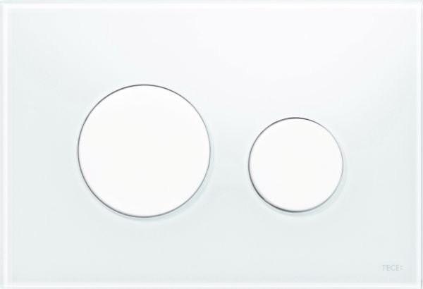 Clapeta dubla actionare Tece Loop sticla alba