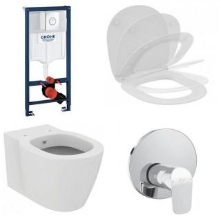 Set PROMO vas wc cu functie bideu, capac soft-close,baterie dus Ideal Standard si rezervor imagine