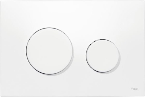 Clapeta dubla actionare Tece Loop alb, plastic antibacterian