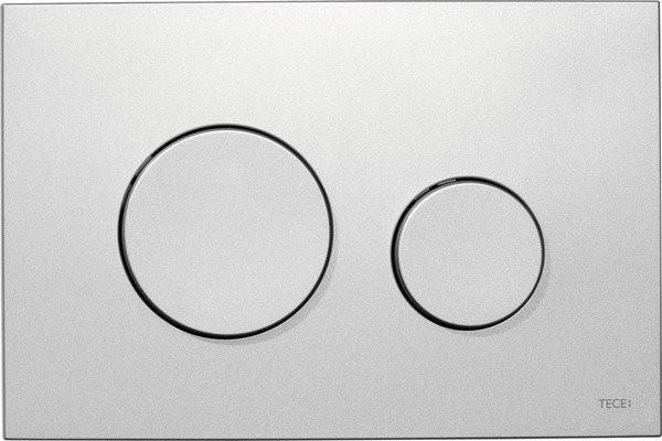 Clapeta dubla actionare Tece Loop crom mat