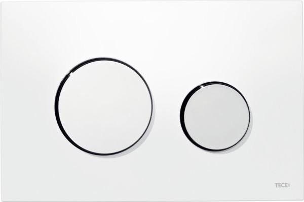 Clapeta dubla actionare Tece Loop, alb - crom lucios