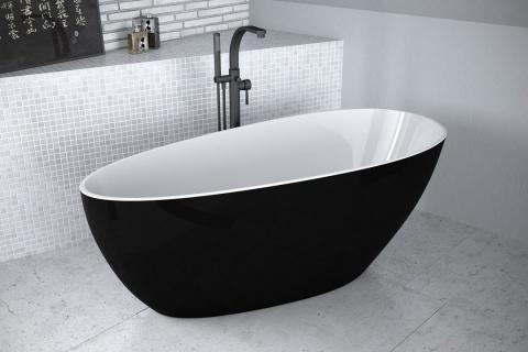 Cada freestanding Besco Goya Black & White XS 142 x 62cm