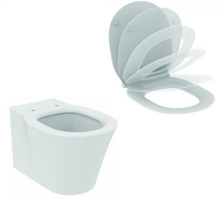 Set PROMO vas WC suspendat si capac wc slim soft-close Ideal Standard Connect Air