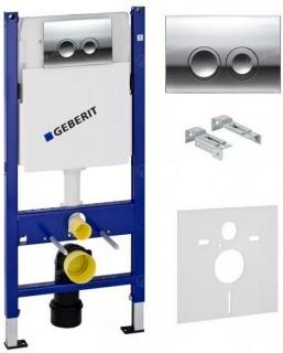 Set PROMO rezervor Geberit Duofix Delta UP100, set fixare, clapeta Delta21, suporti metalici
