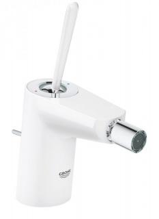 Baterie bideu Grohe Eurodisc Joy cu monocomanda 1/2″ Marimea S, alb imagine