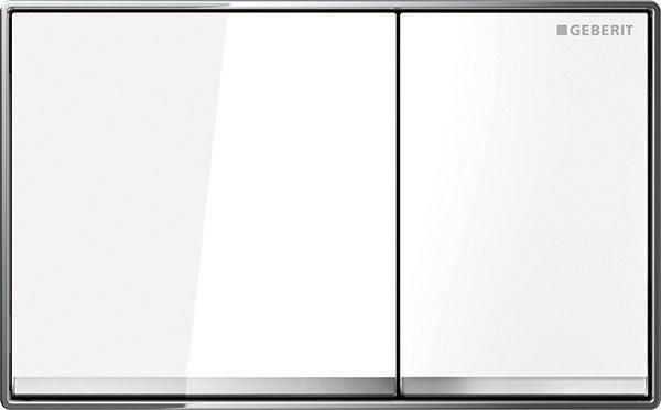 Clapeta actionare Geberit Omega60, sticla alba