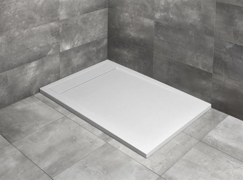 Cadita dus dreptunghiulara Radaway Teos F 100 x 80 x H4 cm, decupabila, alb