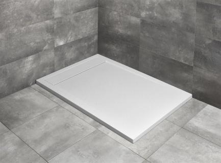 Cadita dus dreptunghiulara Radaway Teos F 150 x 80 x H4 cm, decupabila, alb