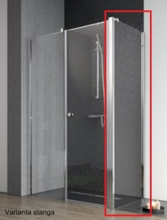 Perete lateral cabina dus Radaway Eos II KDS, 90 x 197 cm