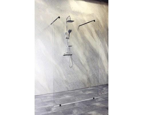 Cabina dus Walk-In Sanotechnik Sanoflex Black Freedom I, 150 x H195 cm