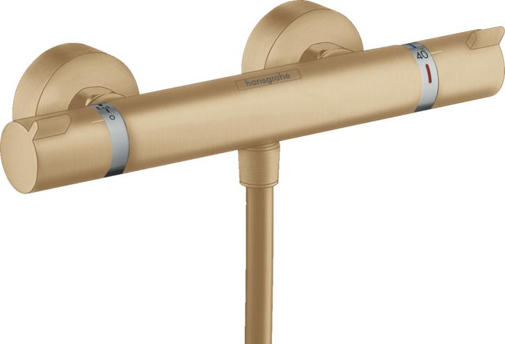 Baterie dus Hansgrohe Ecostat Comfort cu termostat, bronz periat