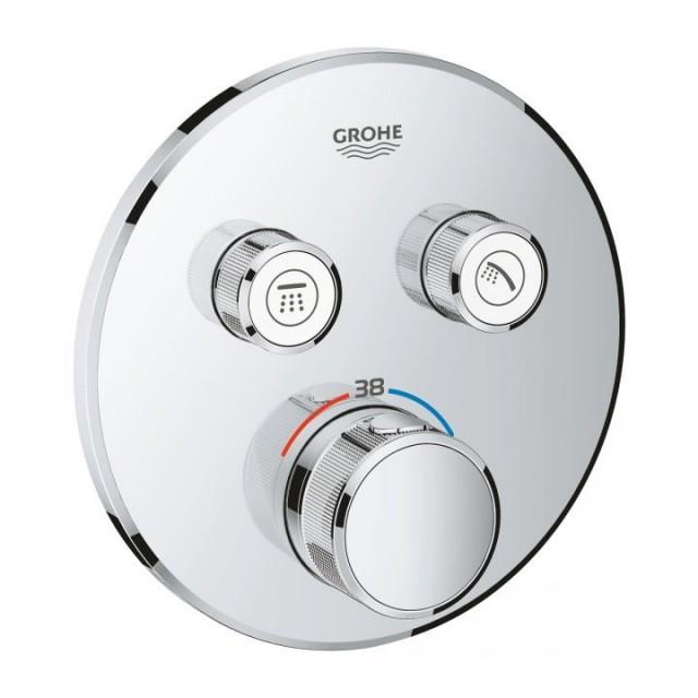 Baterie dus Grohe Grohtherm Smartcontrol termostatata cu 2 iesiri, crom