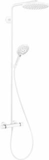 Sistem dus Hansgrohe Raindance Select S 240, baterie termostatata, alb mat