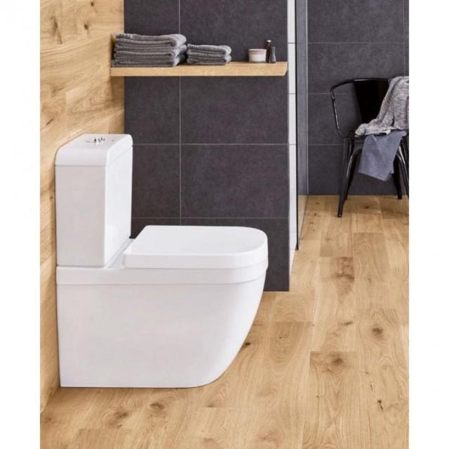 PROMO Vas WC pe pardoseala, rezervor si capac Grohe Euro Ceramic Rimless, alimentare laterala
