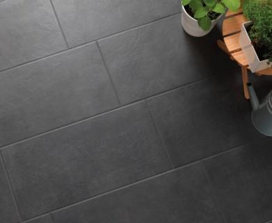 Gresie portelanata Sintesi Italia, Flow Tech Black 60,4x30 cm