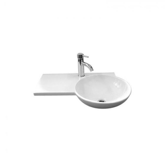 Lavoar Rak Ceramics Gina 67.5 x 43 cm, cuva stanga