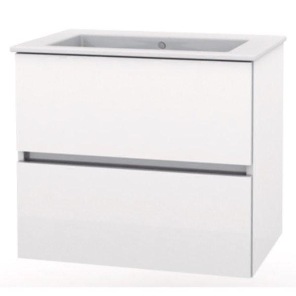 Set mobilier Roca Cube baza si lavoar 55x43xH55 cm