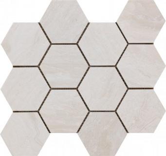 Mozaic Ceramic Hexagonal Sintesi, Nepal Beige 34x30 cm imagine