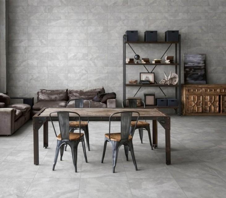 Gresie portelanata Sintesi, Tracks Grey 60,4x30 cm