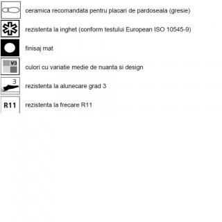 Gresie portelanata Sintesi, Tracks Grey rectificata 60x20 cm