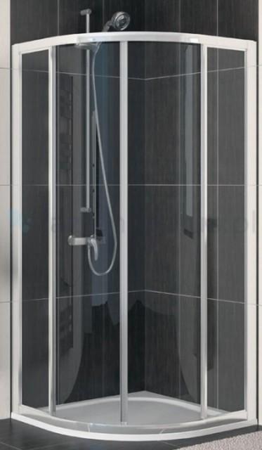 SUPER PROMO Cabina dus semirotunda SanSwiss Eco-Line 90x90xH190 cm