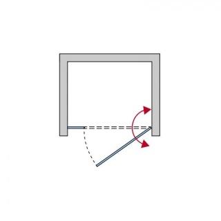SUPER PROMO Usa de nisa pivotanta SanSwiss Top-Line 120x200 cm, sticla durlux
