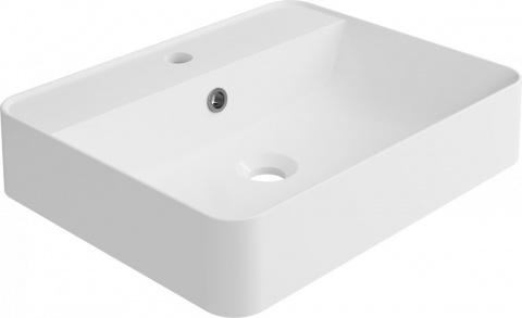 Lavoar dreptunghiular Cast Marble Cara 50x40 cm cu preaplin