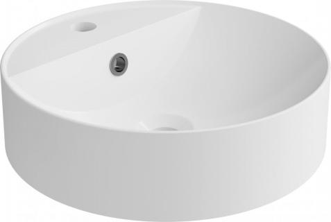 Lavoar rotund Cast Marble Cara Round Ø 40 x H12.1 cm cu preaplin