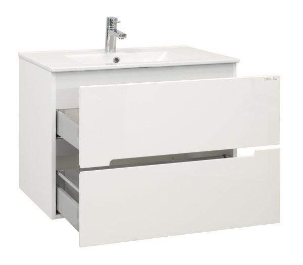 Baza lavoar Oristo Silver 90x45xH55 cm alb lucios