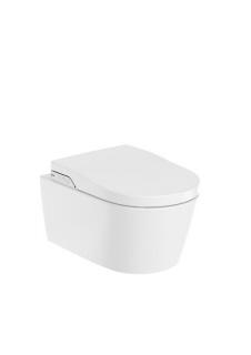 Vas WC Roca suspendat Inspira In-Wash® inteligent cu functie de bideu electric 56,2 x 39 x H47,6 cm imagine