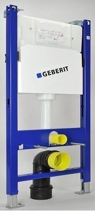 Set PROMO Cadru cu rezervor ingropat Geberit Delta UP100, bara de sus, sistem fixare, clapeta alba