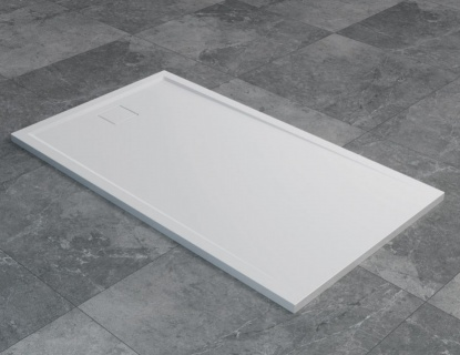 Cadita de dus SanSwiss Livada W20AS 140x90xH3,7 cm marmura sintetica alba imagine